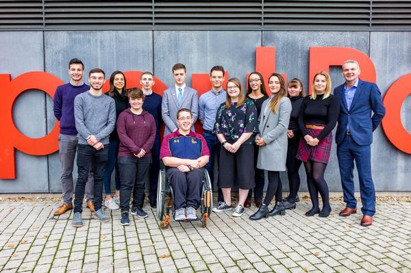 The CIMSPA Youth Panel is chaired by Malcolm McPhail (far right), group CEO of Life Leisure, and consists of 13 young people aged 16 - 24