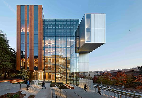 Sustainable projects include the University of Washington's Life Sciences building and the Philips Academy, Snyder Centre