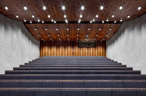 The lecture auditorium