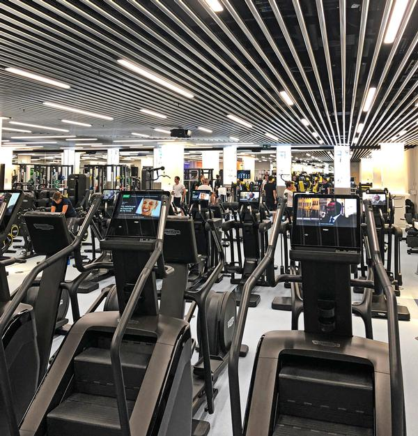 Fifty per cent of employees at the Goldman Sachs London office are registered members of the fitness centre