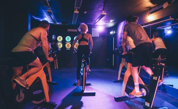 Group cycle at Fitness Space, Cardiff