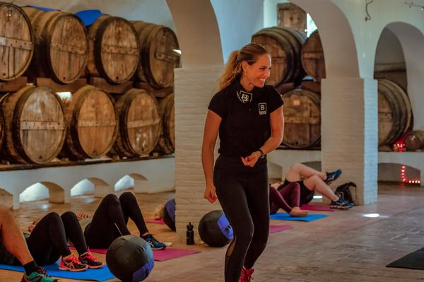 The bootcamp has a holistic approach to wellness, with training and relaxation offered alongside nutrition and cooking seminars