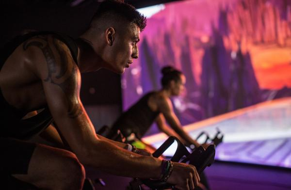 Les Mills' The Trip combines the group cycling buzz with cinema-quality visuals