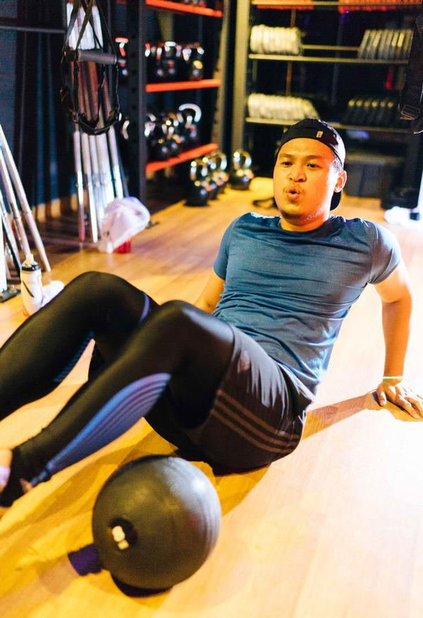 Hutson and business partner  Dave Nuku have two Fire Fitness clubs in Kuala Lumpur