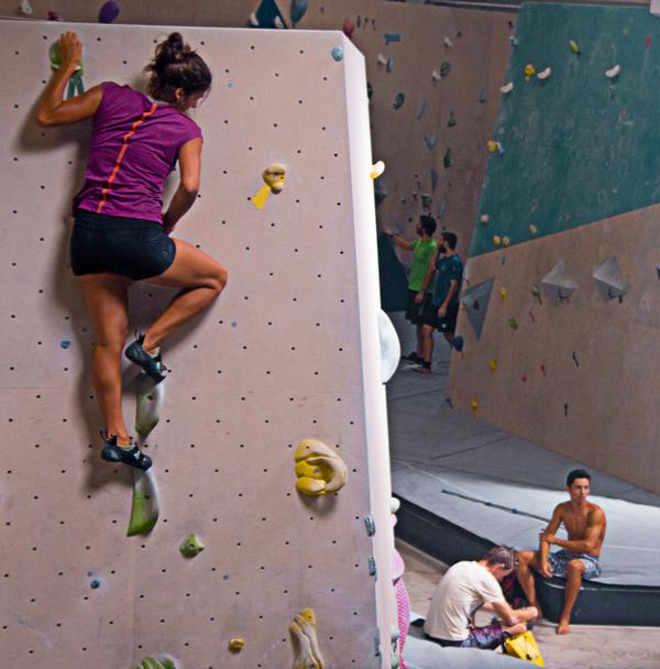 De Belmont says bouldering is so popular because it's a fun, social, easily accessible sport