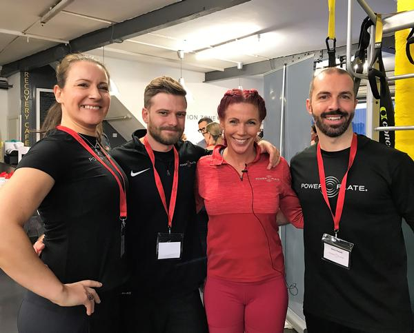 From left: Sarah Morrelli, Matt Cottle, Laura Wilson and Stephen Powell at the Power Plate RISE event