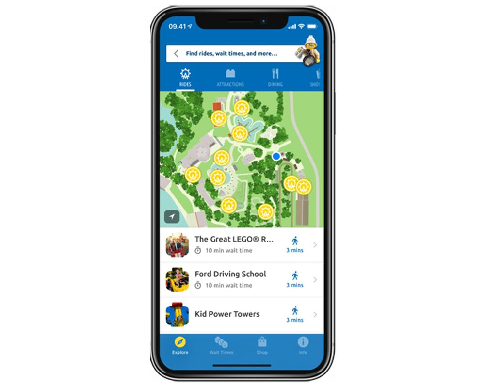The app is designed to enable visitors to make the most of their visit in the park