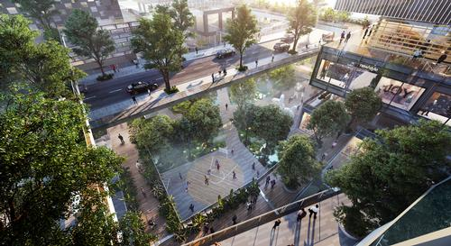 The property will also feature a community playground as well as multiple outdoor spaces, restaurants, offices, and residential facilities. / Courtesy of MVRDV