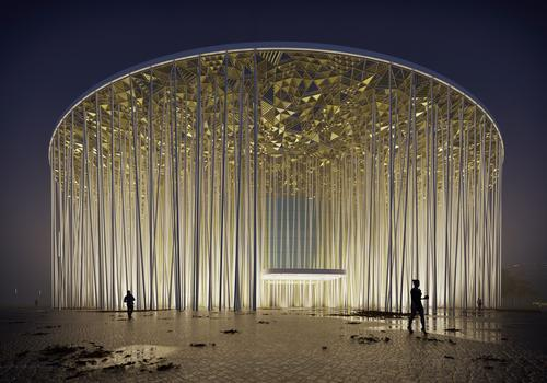 The Wuxi Theatre's ambitious design was recognised at this year's World Architecture Festival. / Courtesy of Steve Chilton Architects