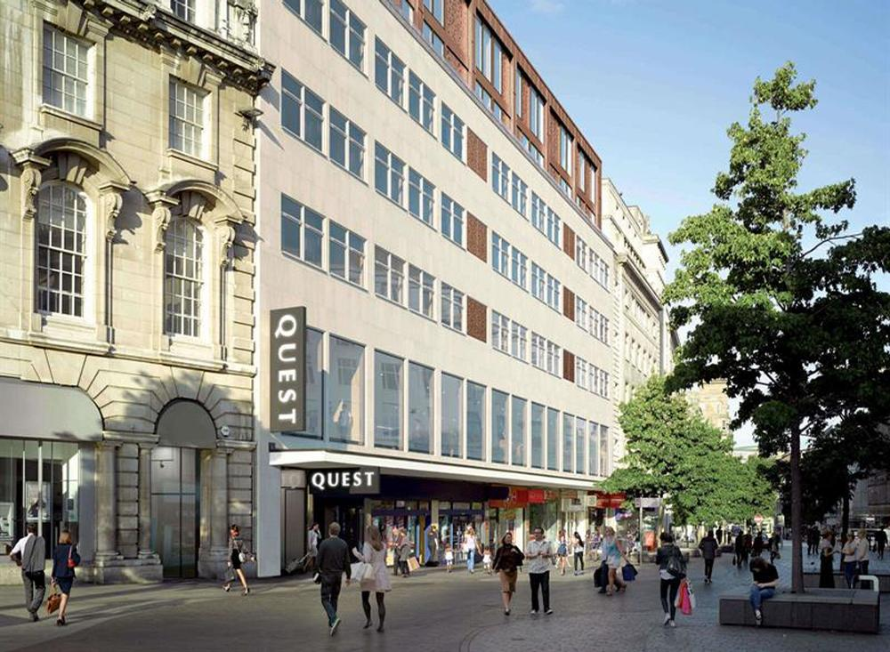 Quest will spend £10m redeveloping a commercial office building in the city's Church Street into a 100-room hotel