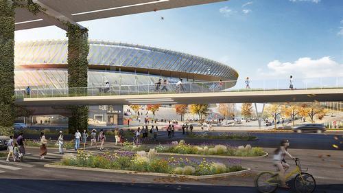 Sasaki will also oversee the development of a midline elevated park. / Courtesy of Sasaki Associates