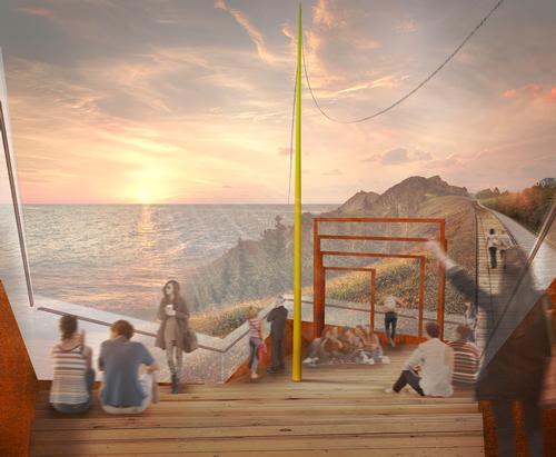 A boat-shaped theatre will provide scenic views of the Bay of Busan. / Courtesy of Migliore+Servetto