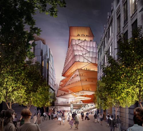 The Centre for Music will serve as a focal point of the London Culture Mile. / Courtesy of Diller Scofdio + Renfro