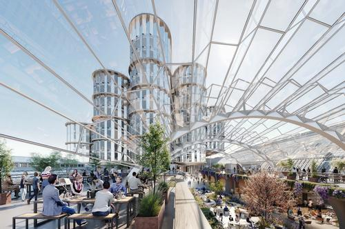 The rehaul will create a number of cinemas, restaurants, hotels, and office units. / Courtesy of Heatherwick Studio and SPPARC