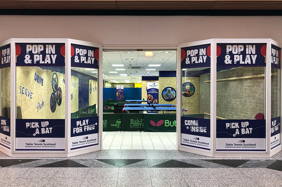 One of the first pop-ups was set up at an empty unit in the South Gyle shopping centre in Edinburgh