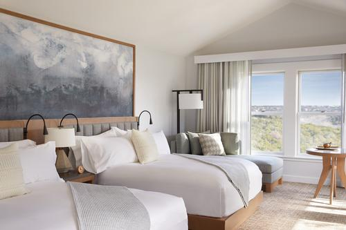 Designed by Hart Howerton, Miraval Austin's 117 guestrooms and suites are designed to be relaxing havens built in harmony with nature, and feature soft, neutral colours
