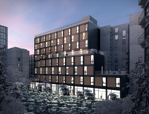The building will be situated on Boulevard Pasteur in the 15th arrondissement of Paris. / Courtesy of Triptyque Architecture
