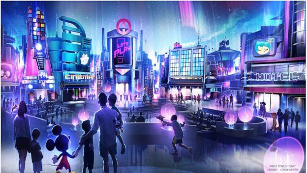 Disney's representation of the new 'play pavilion'. / Disney