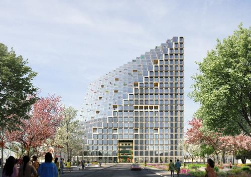 The project is expected to be completed in 2020. / Courtesy of OMA/ Image by Bloomimages