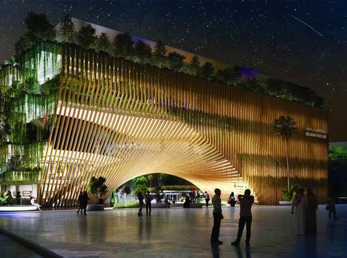 The Green Ark will feature shops, a restaurant, an agora, and a terrace. / Courtesy of Vincent Callebaut/Assar