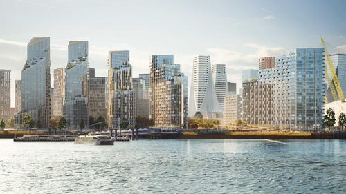 The development – acquired by Knight Dragon in 2012 – offers panoramic views of Canary Wharf. / Courtesy of Knight Dragon