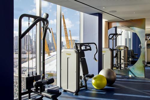 The workout areas offer spectacular views of the London cityscape. / Courtesy of Knight Dragon