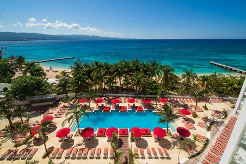 The resort overlooks the picturesque Doctor's Cave Beach at Montego Bay. / Courtesy of S Hotel Jamaica