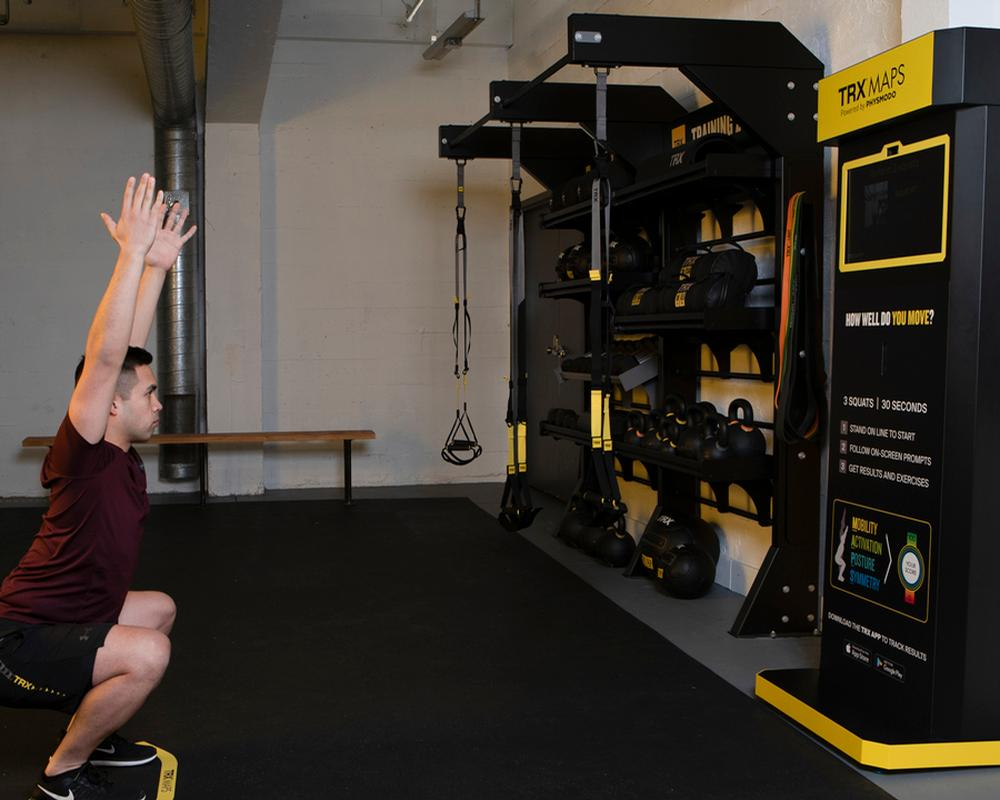 TRX MAPS performs a complete body movement assessment in less than 30 seconds