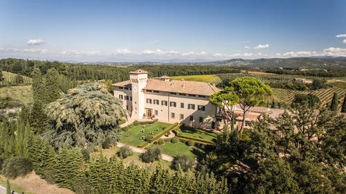 The 740-acre historic estate is situated in the world-famous Chianti wine region of Italy