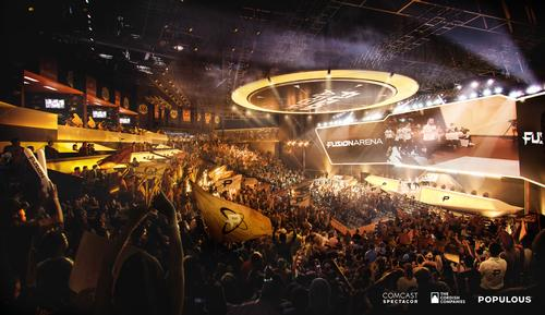 Fusion Arena is being developed by Comcast Spectacor and The Cordish Companies. / Courtesy of Populous