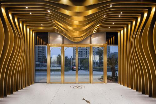 The property features a ribbed vestibule. / Courtesy of Topos Design Clan