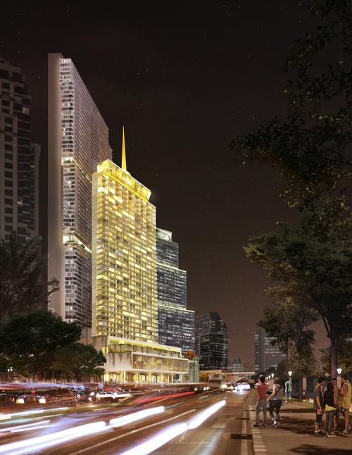 The Dusit Thani hotel is expected to open to the public in 2023. / Dusit International