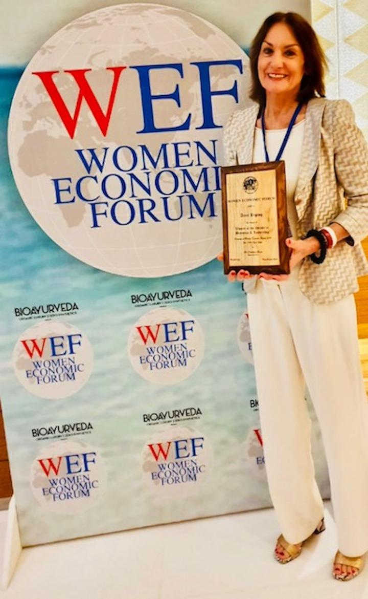 Anne Biging, co-founder and CEO of Healing Hotels of the World, has been named 'Woman of the Decade in Business & Leadership' at the Women's Economic Forum (WEF) in New Delhi, India
