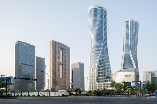 Raffles City Hangzhou was completed in 2017. / Courtesy of UNStudio