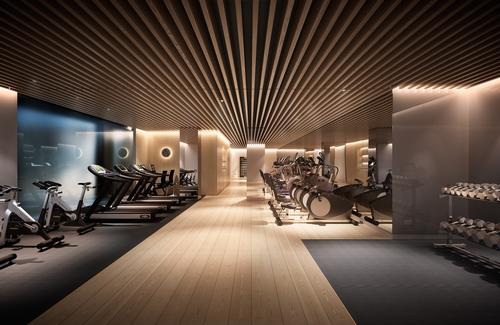 Interior spaces, including the building's spa facility, were designed by Jouin Manku. / Courtesy of Clivedale London