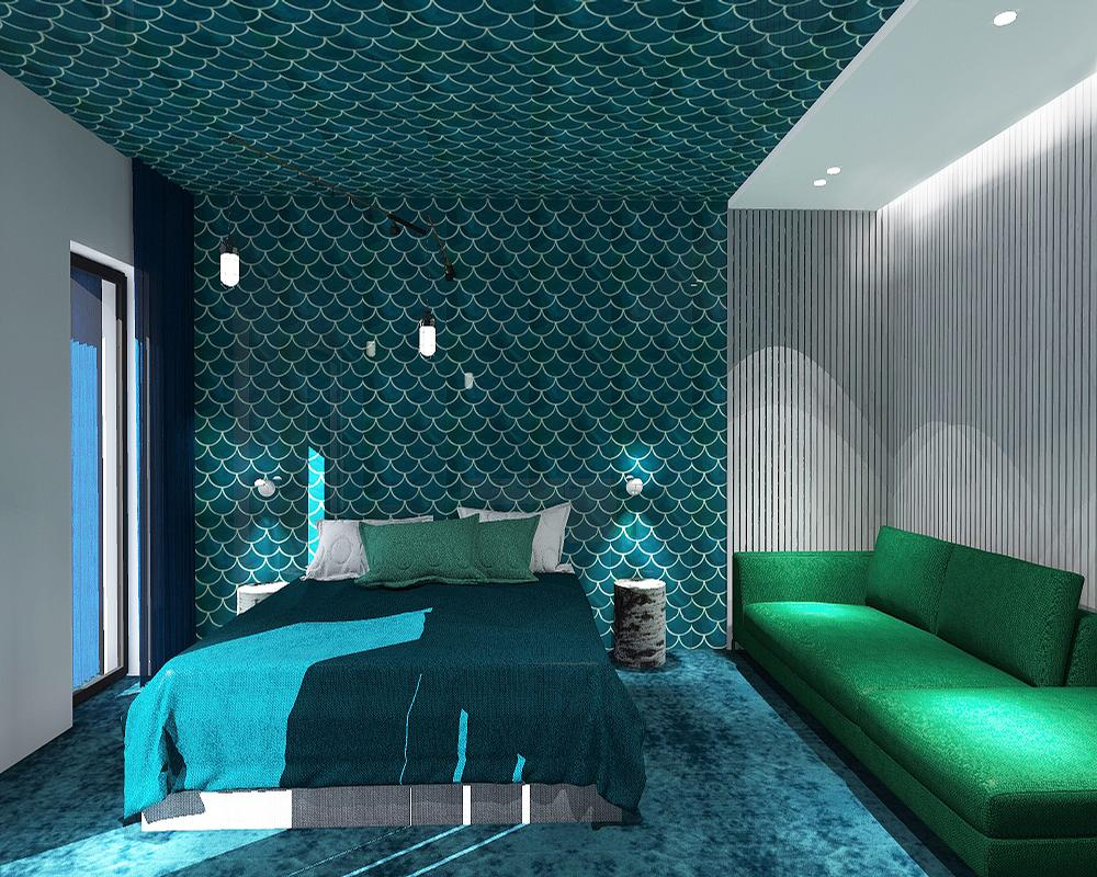 Rooms will have different themes that customers can choose from; this one is 'adventure'