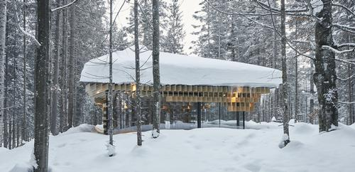 The Meditation House also features a zinc roof, reflecting local church architecture. / Image courtesy of Das Kranzbach