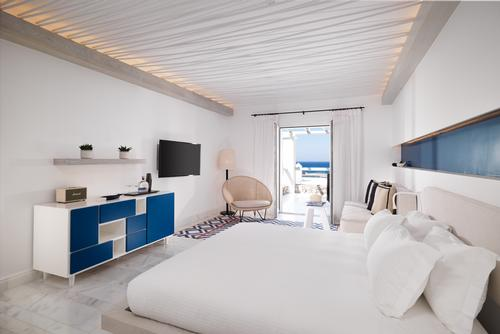 The Mykonos Riviera Hotel and Spa features 44 rooms and suites. / Courtesy of Niall Clutton
