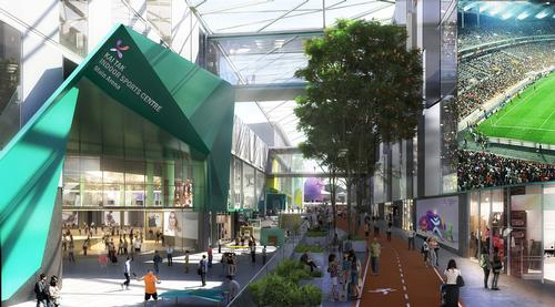 The campus will also comprise multiple retail shops, entertainment venues, and eateries. / Courtesy of Populous