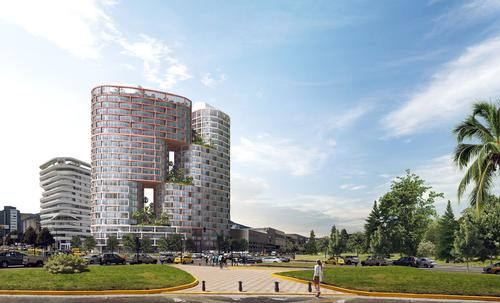 The 44, 000 sq m project will rise in Quito, one of South America's highest and greenest cities. / Courtesy of BIG