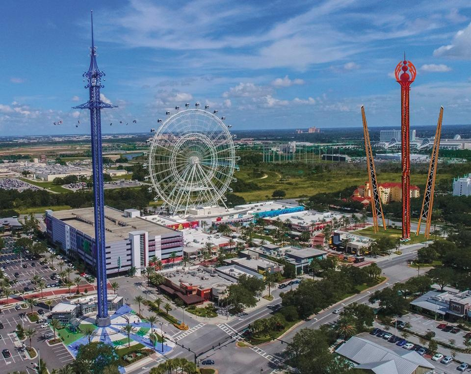 The artist's rendering of the park with the new rides on the right of the picture, StarFlyer on the left / Icon Park/Facebook