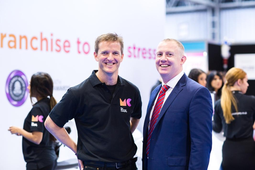 The Massage Company was founded in 2016 by Charlie Thompson, MD (left) and Elliot Walker, CEO