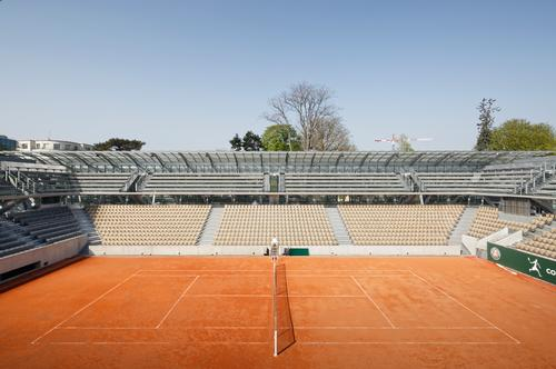 The stadium will host its first match on Sunday. / Photo by Camille Gharbi