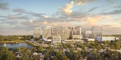 Karle Infra, the project's developer, will position data-gathering sensors throughout the city. / Courtesy of UNStudio