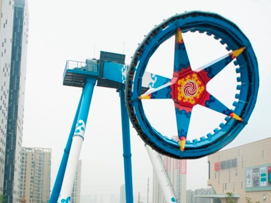 Huss has opened two new attractions, including the Giant Frisbee 40, in India