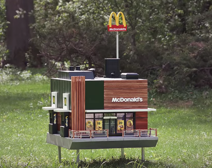 McDonald's Sweden created the McHive to celebrate the company's commitment to bee conservation / McDonalds