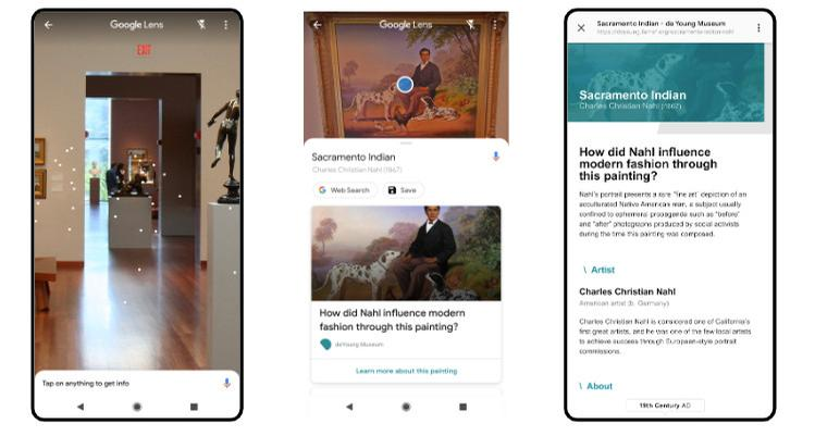 Artworks in the museum's American art collection also have additional content from curators linked through Google Lens