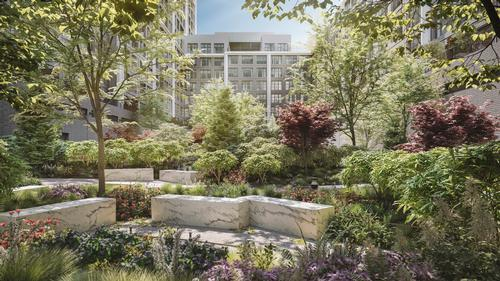 The property will also feature a private park designed by Michael Van Valkenburgh Associates / Williams New York