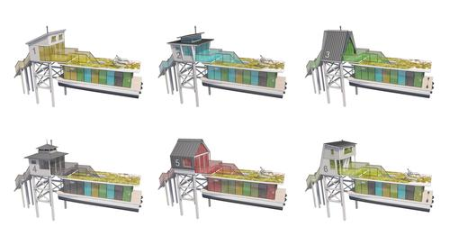 Each houseboat could be custom-designed for individual use / Max Zhivov