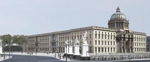 Rendering of the north and west facade / SHF / Architect: Franco Stella with FS HUF PG
